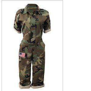 NWOT Camouflage jumpsuit